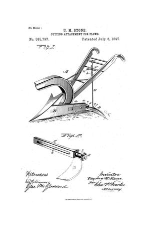 Primary view of object titled 'Cutting Attachment For Plows.'.