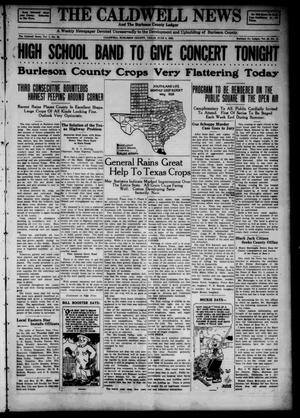 Primary view of object titled 'The Caldwell News and The Burleson County Ledger (Caldwell, Tex.), Vol. 49, No. 11, Ed. 1 Friday, June 8, 1928'.
