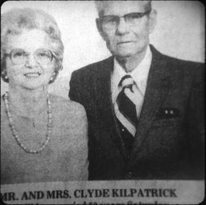 Primary view of object titled '[Clyde and Mrs. Kilpatrick, Library Supporters]'.