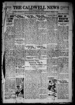 Primary view of object titled 'The Caldwell News and The Burleson County Ledger (Caldwell, Tex.), Vol. 43, No. 96, Ed. 1 Friday, January 4, 1929'.