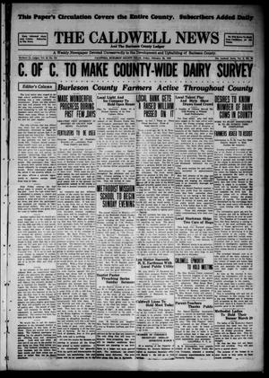 The Caldwell News and The Burleson County Ledger (Caldwell, Tex.), Vol. 43, No. 103, Ed. 1 Friday, February 22, 1929