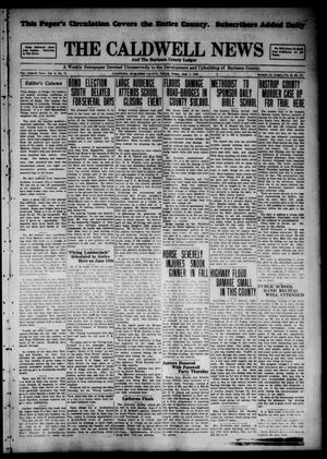 Primary view of object titled 'The Caldwell News and The Burleson County Ledger (Caldwell, Tex.), Vol. 44, No. 117, Ed. 1 Friday, June 7, 1929'.
