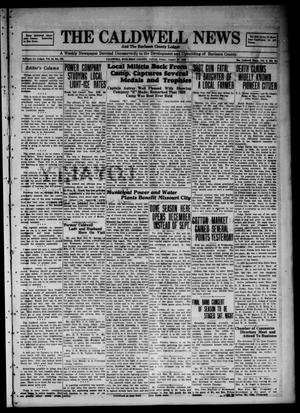 Primary view of object titled 'The Caldwell News and The Burleson County Ledger (Caldwell, Tex.), Vol. 44, No. 128, Ed. 1 Friday, August 23, 1929'.