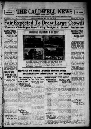 Primary view of object titled 'The Caldwell News and The Burleson County Ledger (Caldwell, Tex.), Vol. 44, No. 32, Ed. 2 Friday, October 25, 1929'.