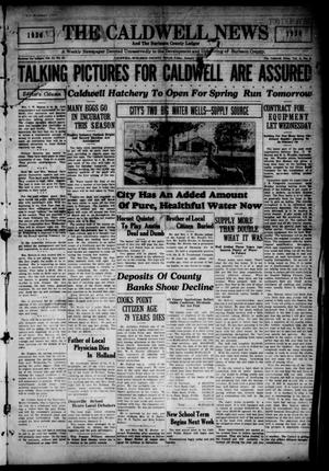 Primary view of object titled 'The Caldwell News and The Burleson County Ledger (Caldwell, Tex.), Vol. 44, No. 42, Ed. 1 Friday, January 10, 1930'.