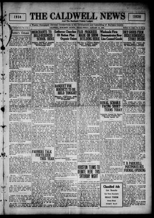 Primary view of object titled 'The Caldwell News and The Burleson County Ledger (Caldwell, Tex.), Vol. 44, No. 45, Ed. 1 Friday, January 31, 1930'.