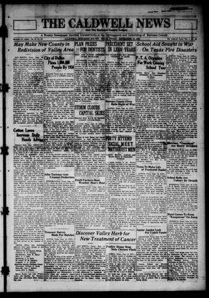 Primary view of object titled 'The Caldwell News and The Burleson County Ledger (Caldwell, Tex.), Vol. 45, No. 25, Ed. 1 Friday, September 19, 1930'.
