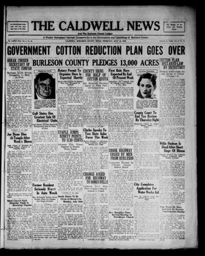 The Caldwell News and The Burleson County Ledger (Caldwell, Tex.), Vol. 48, No. 14, Ed. 1 Thursday, July 13, 1933