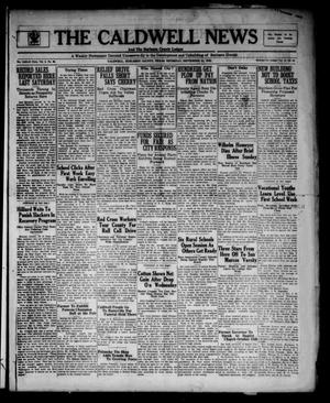 Primary view of object titled 'The Caldwell News and The Burleson County Ledger (Caldwell, Tex.), Vol. 48, No. 24, Ed. 1 Thursday, September 21, 1933'.