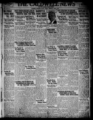 Primary view of object titled 'The Caldwell News and The Burleson County Ledger (Caldwell, Tex.), Vol. 49, No. 12, Ed. 1 Thursday, June 7, 1934'.