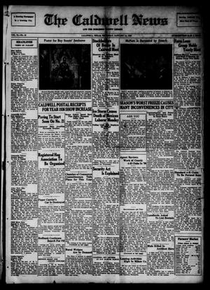 Primary view of object titled 'The Caldwell News and The Burleson County Ledger (Caldwell, Tex.), Vol. 51, No. 42, Ed. 1 Thursday, January 14, 1937'.