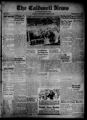 Primary view of object titled 'The Caldwell News and The Burleson County Ledger (Caldwell, Tex.), Vol. 52, No. 47, Ed. 1 Thursday, February 24, 1938'.