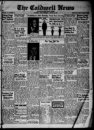 Primary view of object titled 'The Caldwell News and The Burleson County Ledger (Caldwell, Tex.), Vol. 54, No. 40, Ed. 1 Thursday, January 18, 1940'.