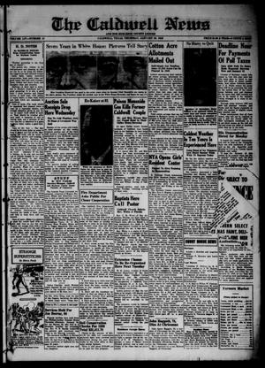 Primary view of object titled 'The Caldwell News and The Burleson County Ledger (Caldwell, Tex.), Vol. 54, No. 41, Ed. 1 Thursday, January 25, 1940'.