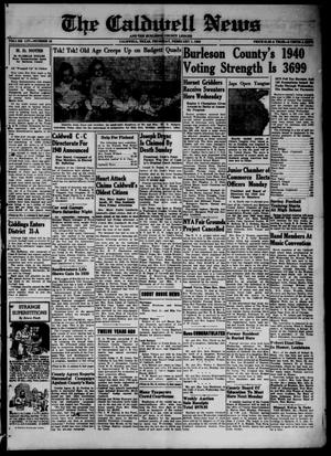 Primary view of object titled 'The Caldwell News and The Burleson County Ledger (Caldwell, Tex.), Vol. 54, No. 42, Ed. 1 Thursday, February 1, 1940'.