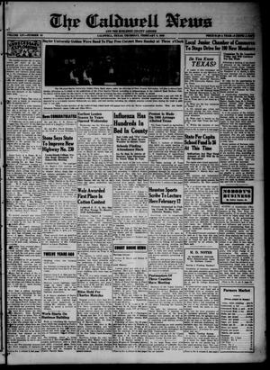 Primary view of object titled 'The Caldwell News and The Burleson County Ledger (Caldwell, Tex.), Vol. 54, No. 43, Ed. 1 Thursday, February 8, 1940'.