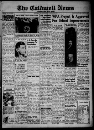 Primary view of object titled 'The Caldwell News and The Burleson County Ledger (Caldwell, Tex.), Vol. 54, No. 44, Ed. 1 Thursday, February 15, 1940'.