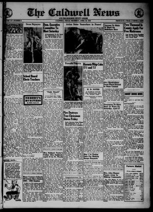 Primary view of object titled 'The Caldwell News and The Burleson County Ledger (Caldwell, Tex.), Vol. 55, No. 2, Ed. 1 Thursday, April 25, 1940'.