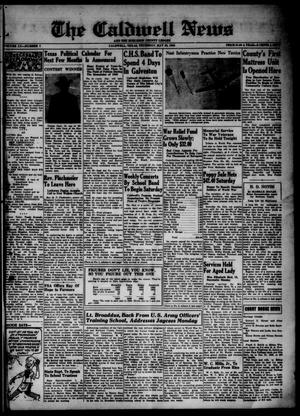 Primary view of object titled 'The Caldwell News and The Burleson County Ledger (Caldwell, Tex.), Vol. 55, No. 7, Ed. 1 Thursday, May 30, 1940'.