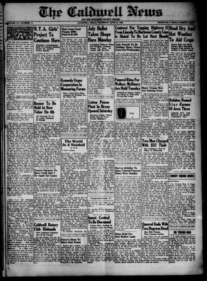 Primary view of object titled 'The Caldwell News and The Burleson County Ledger (Caldwell, Tex.), Vol. 55, No. 11, Ed. 1 Thursday, June 27, 1940'.