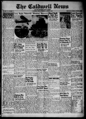 Primary view of object titled 'The Caldwell News and The Burleson County Ledger (Caldwell, Tex.), Vol. 55, No. 17, Ed. 1 Thursday, August 8, 1940'.