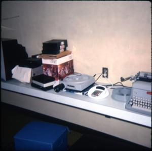 Primary view of object titled '[Equipment at Marshall Public Library]'.