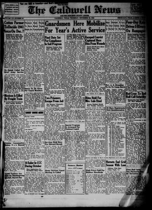 Primary view of object titled 'The Caldwell News and The Burleson County Ledger (Caldwell, Tex.), Vol. 55, No. 33, Ed. 1 Thursday, November 28, 1940'.