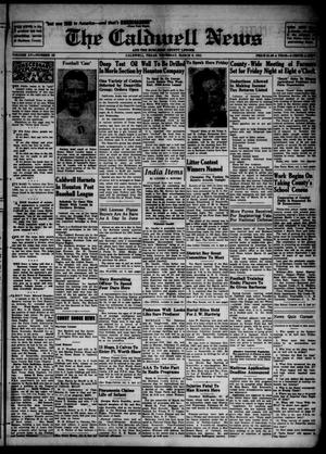 Primary view of object titled 'The Caldwell News and The Burleson County Ledger (Caldwell, Tex.), Vol. 55, No. 46, Ed. 1 Thursday, March 6, 1941'.