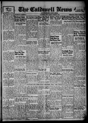 Primary view of object titled 'The Caldwell News and The Burleson County Ledger (Caldwell, Tex.), Vol. 56, No. 37, Ed. 1 Friday, March 27, 1942'.