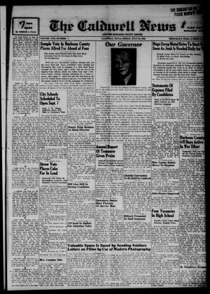 Primary view of object titled 'The Caldwell News and The Burleson County Ledger (Caldwell, Tex.), Vol. 57, No. 1, Ed. 1 Friday, July 24, 1942'.