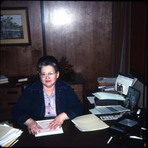 Primary view of object titled '[Dorothy Morrison, First Director of the Marshall Public Library]'.