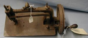 Primary view of object titled '[Hand powered sewing machine]'.