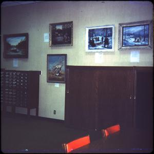 Primary view of object titled '[Art Prints at the Public Library]'.