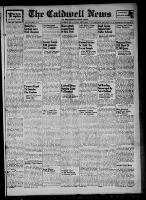 Primary view of object titled 'The Caldwell News and The Burleson County Ledger (Caldwell, Tex.), Vol. 62, No. 8, Ed. 1 Friday, September 17, 1948'.