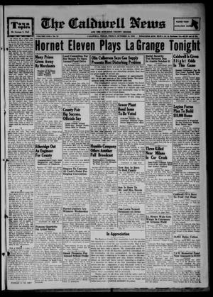 Primary view of object titled 'The Caldwell News and The Burleson County Ledger (Caldwell, Tex.), Vol. 62, No. 12, Ed. 1 Friday, October 15, 1948'.