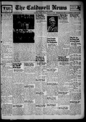 Primary view of object titled 'The Caldwell News and The Burleson County Ledger (Caldwell, Tex.), Vol. 62, No. 26, Ed. 1 Friday, January 28, 1949'.