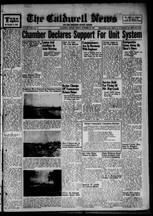 Primary view of object titled 'The Caldwell News and The Burleson County Ledger (Caldwell, Tex.), Vol. 63, No. 13, Ed. 1 Friday, October 28, 1949'.