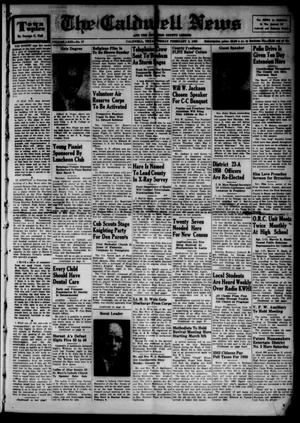 Primary view of object titled 'The Caldwell News and The Burleson County Ledger (Caldwell, Tex.), Vol. 63, No. 27, Ed. 1 Friday, February 3, 1950'.