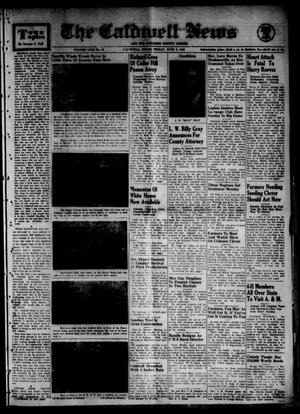 Primary view of object titled 'The Caldwell News and The Burleson County Ledger (Caldwell, Tex.), Vol. 63, No. 45, Ed. 1 Friday, June 9, 1950'.