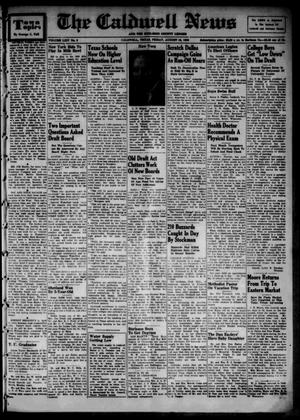 Primary view of object titled 'The Caldwell News and The Burleson County Ledger (Caldwell, Tex.), Vol. 64, No. 3, Ed. 1 Friday, August 18, 1950'.