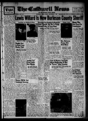 Primary view of object titled 'The Caldwell News and The Burleson County Ledger (Caldwell, Tex.), Vol. 64, No. 5, Ed. 1 Friday, September 1, 1950'.