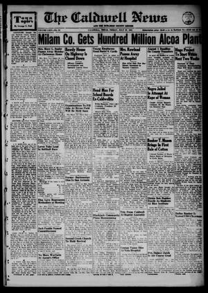 Primary view of object titled 'The Caldwell News and The Burleson County Ledger (Caldwell, Tex.), Vol. 64, No. 52, Ed. 1 Friday, July 27, 1951'.