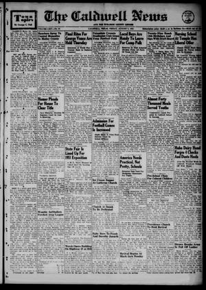 Primary view of object titled 'The Caldwell News and The Burleson County Ledger (Caldwell, Tex.), Vol. 64, No. 53, Ed. 1 Friday, August 3, 1951'.