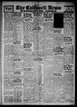 Primary view of object titled 'The Caldwell News and The Burleson County Ledger (Caldwell, Tex.), Vol. 65, No. 47, Ed. 1 Friday, July 3, 1953'.