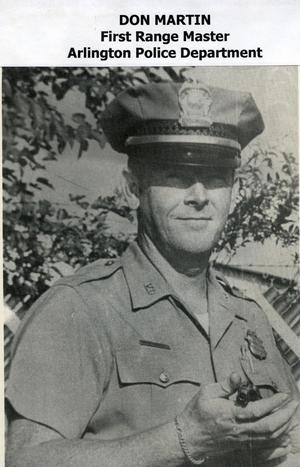 Primary view of object titled '[Arlington Police Officer Don Martin, first Range Master]'.