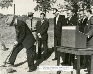 Primary view of object titled '[Arlington Police Station, 717 W. Main Street, groundbreaking ceremony, view 1]'.