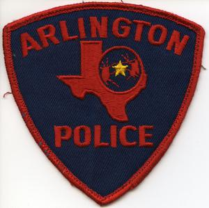 [APD patch. Non-supervisor patch with red lettering and red trim]