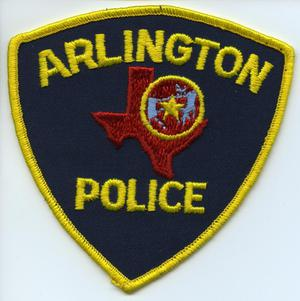 Primary view of object titled '[APD patch. Unofficial APD patch that later became official patch with gold lettering and gold trim]'.