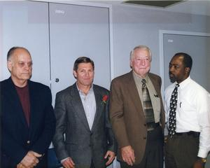 Primary view of object titled '[Arlington Police Chiefs Roy Ables, David Kunkle, Herman Perry and Theron Bowman, 1999]'.