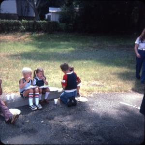 Primary view of object titled '[Children Picnic at the Public Library]'.